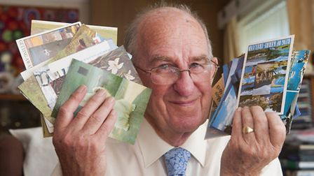 Michael Porter has been collecting postcards for charity for 35 years. PHOTO: Nick Butcher