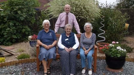 Mavin Shulver, Pat Blakeburn, Heather Basey-Fisher and Harald Pulford of The Friends of All Hallows