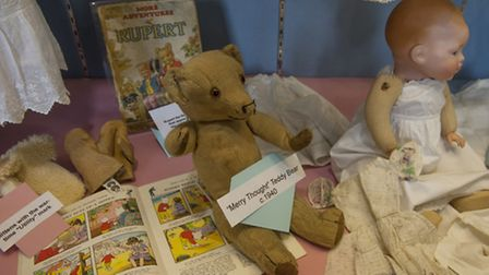 The new exhibition on children's clothing at Beccles Museum.PHOTO: Nick Butcher
