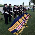 Former Bungay standard bearer Bruce Firth-Clark (front) representing the branch at a previous event.