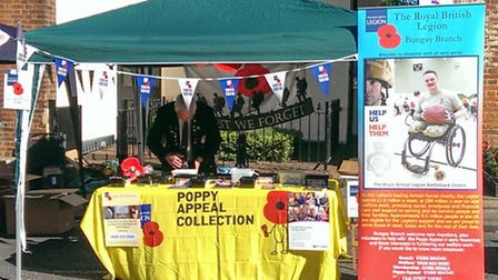 The Royal British Legion Bungay branch is preparing for its annual Poppy Appeal table