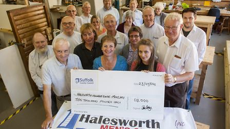 Halesworth Men's Shed and Halesworth Volunteer Centre has been awarded £10,000 from Suffolk Communit