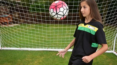 Young footballer Gracie Squire, 12, from Bungay has been selected for the FA Girls' Regional Excelle