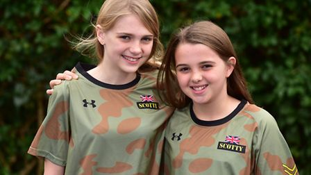 Millie and Morgan Fiske are getting ready to run the Rock Solid Stars race to raise money for Scotty