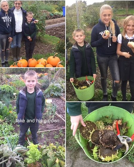 Members of the Swan Lane Children's Allotment Club, which picked up Best Children's Project.