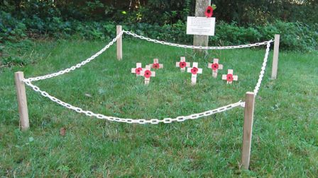The Field of Remembrance at All Saints' Church in Ringsfield.