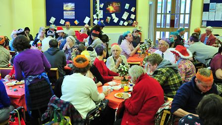 A previous Christmas lunch held by the Salvation Army in Lowestoft.
