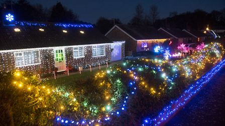 Homeowners on Park Drive, Worlingham have decorated their homes for Christmas. PHOTO: Nick Butcher