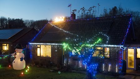 Julie and Richard Kerton's decorated home in Park Drive, Worlingham. PHOTO: Nick Butcher