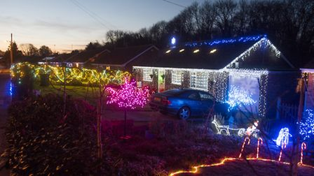 Homeowners on Park Drive, Worlingham have decorated their homes for Christmas.PHOTO: Nick Butcher