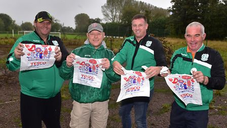 Beccles Caxton Football Club has secured a grant for £10,000 from Tesco through the Bags of Help sch