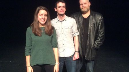 Youth theatre practitioners Abbie Moore, Will Isgrove and John Hales.