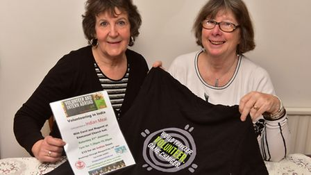 Margaret Sheppard and Carol Weaver will be volunteering in India. Picture: Nick Butcher