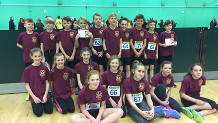 Waveney's athletes who were in action for the Suffolk county squad. Picture: James Gooch.