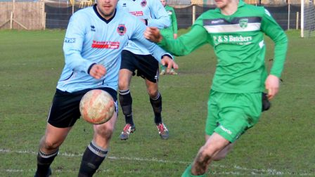 John Riches on the ball. Picture by Shaun Cole.