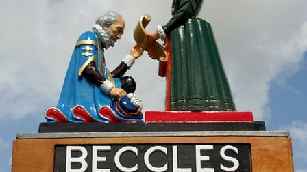 Beccles town sign. Picture: Nick Butcher.