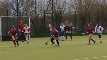 Action from Beccles' defeat against Norwich Dragons. Picture: SUPPLIED