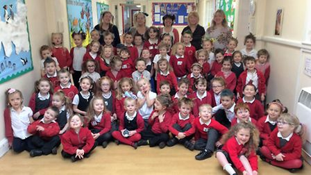 The Bad Hair Day fundraiser at Ravensmere Infant School.