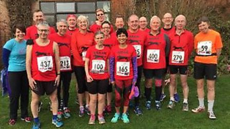 Bungay Black Dog RC runners who took at a hilly Broadland half marathon around South Walsham. Pictur