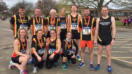 Waveney Valley runners in the Mad March Hare 10k at RAF Coltishall. Picture: Waveney AC.
