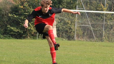 Youngster Jake Rose put in a man-of-the-match performance for Loddon. Picture: Carl Davison