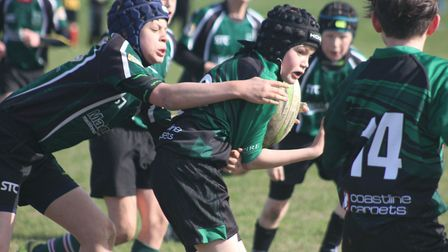 Beccles U12s Archie McIntyre. Picture: Alan Cooper.