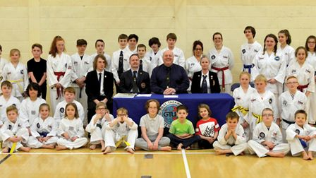 Bungay and Beccles Taekwondo Clubs after completing their 2017 grading. Picture: Clint Gillett