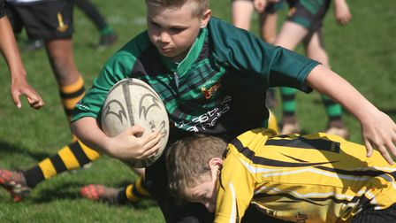 Beccles U12s' Farran Cousins in action. Picture: Alan Cooper