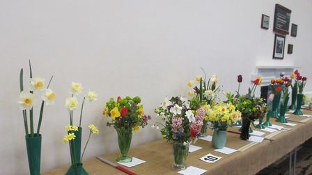 Entries in the Beccles Horticultural Society show.