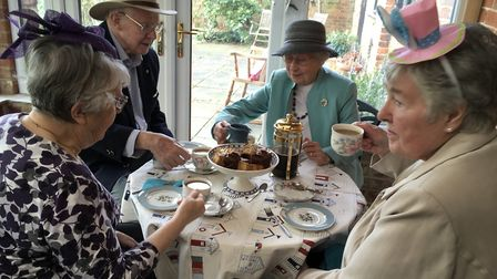 Beccles Morning WI members and friends on wear a hat day.
