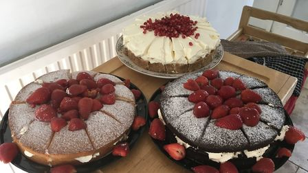 Tasty treats at Beccles WI's wear a hat day.