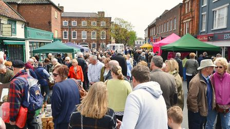Beccles Antiques Street Market returns to Beccles for eighth year. Photo by Charlotte James Photogra