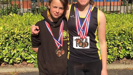 Brooke and Lauren Oram performed well at the Suffolk County Championship at Ipswich. Picture: Nikki