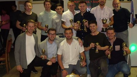 All smiles at Bungay Town FC's presentation evening. Picture: Terry Reeve