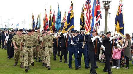 Last year's Armed Forces Day on Royal Green in Lowestoft. Picture: Mick Howes.