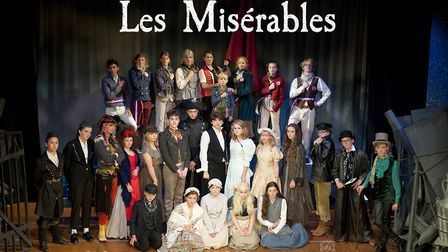 The Fisher Youth Theatre Group performing Les Miserables at Bungay's Fisher Theatre. Picture: Helen