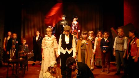 The Fisher Youth Theatre Group performing Les Miserables at Bungay's Fisher Theatre. Picture: Darren