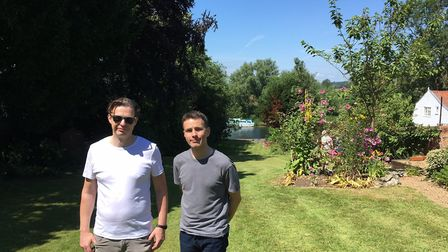 James Mullan and Lyall Thou opened their garden to the public as part of Beccles Charter Weekend. Ph