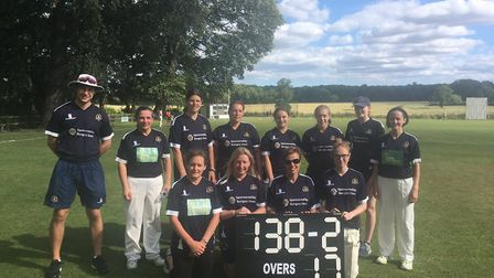 Topcroft Ladies' XI before their match against Brooke. Picture: Jim Prewer Anderson
