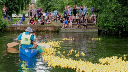 Hundreds of rubber ducks took to the water. Picture: Edwin Rosier Photography.