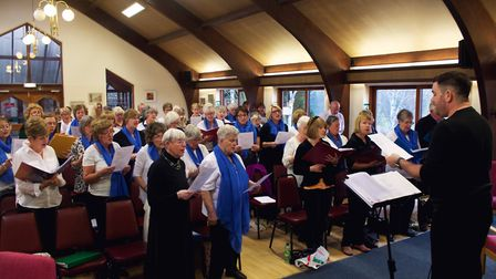 Beccles Community Choir (pictured) will join forces with Bungay Community Choir. Photo: Beccles Comm