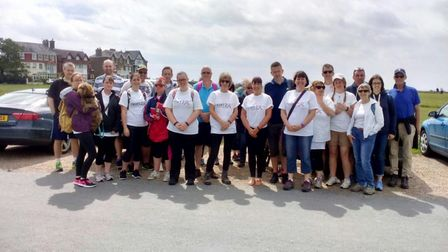 Staff from Albert Pye and Ravensmere took on a sponsored walk. Photo: Albert Pye Community Primary S