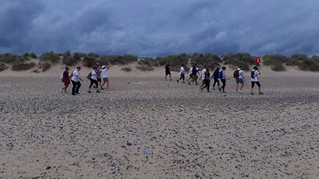 The walk stretched for 10 miles around Walberswick and Southwold. Photo: Albert Pye Community Primar