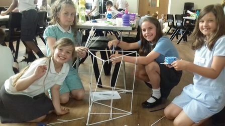 Youngsters took part in Bungay High School's annual Maths Challenge. Photo: Bungay High School