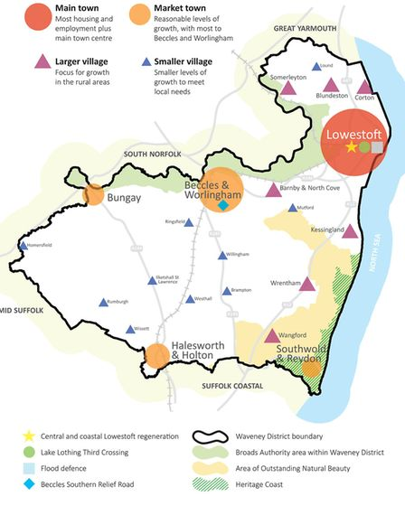 The overall strategy included in Waveney's draft Local Plan. Picture: Waveney District Council.