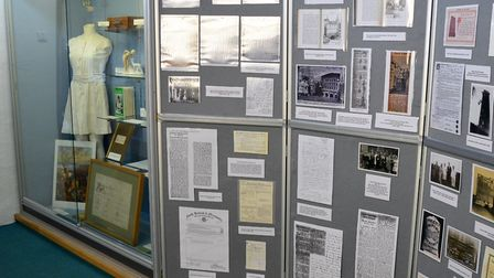 The Beccles and District Historical Society display at Beccles Museum. Picture: Alan Ayers.
