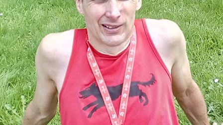 Andrew Manning of Bungay Black Dogs took on a tough challenge in Hampshire/ Picture: Club