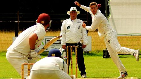 South African allrounder Luke Schlemmer in action at Walcis Park on Saturday. Picture: Tim Ferley