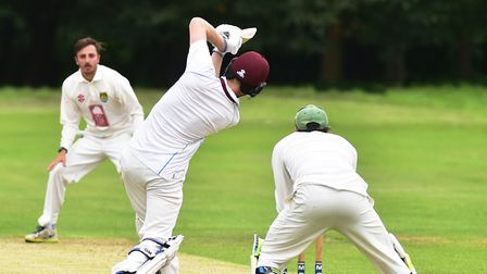 Cricket action between Swardeston (batting) and Great Witchingham. Picture: Nick Butcher