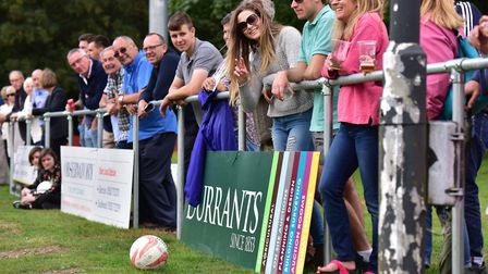 A good sized crowd watching the local derby. Picture: Nick Butcher